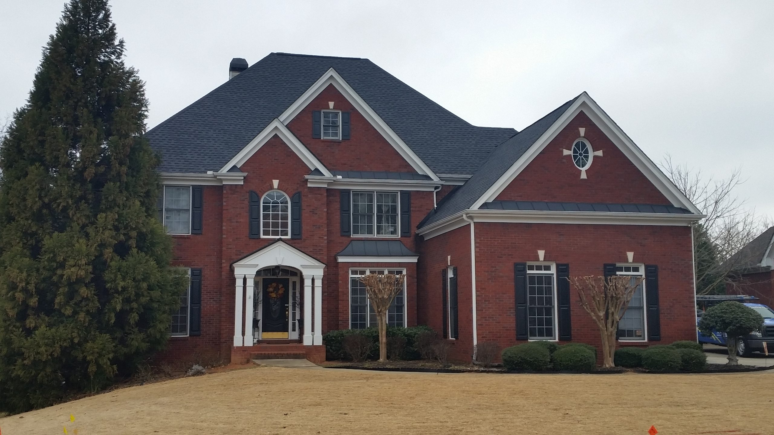 Roof Replacement on Burgundy Roswell GA home