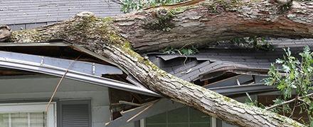 emergency roofing debris