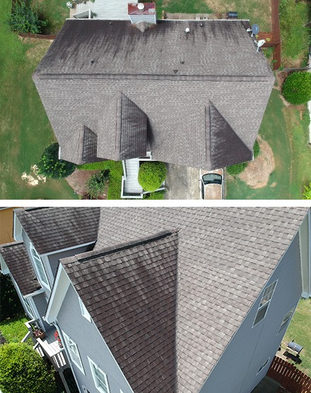 free drone roof inspection example