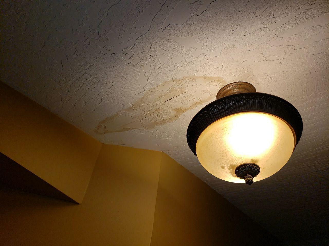 dark spots on ceiling from water damage